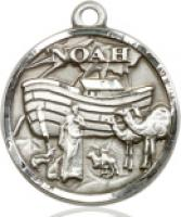 "Gold Filled Noah Pendant, Gold Filled Lite Curb Chain, 3/4"" x 3/4"""