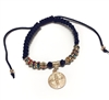 Black Adjustable Multi-Color Saint Benedict Bracelet