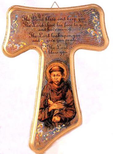Tau Cross Of St Francis Wood Wall Cross