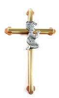 "6"" Gold Boy Cross"