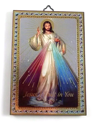 Divine Mercy Wood Plaque