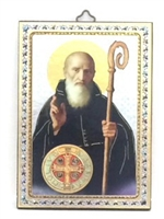 Italian Made St. Benedict Wall Plaque 47-300-BE