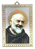 Italian Made St. Padre Pio Wall Plaque 47-300-PP