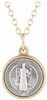 Saint Benedict Small Size Gold Pendant 513-01