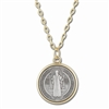 Saint Benedict Medium Size Gold Pendant 513-02