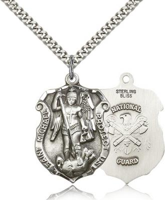 St. Michael the Archangel National Guard Pendant 5448SS3