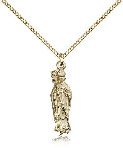 Filled st patrick pendant gold filled lite curb chain 1 x 14 gold filled st patrick pendant gold filled lite curb chain 1 x 14 aloadofball Images