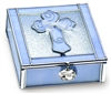 Blue Enamel Boy Baptism Keepsake Box N1803BL