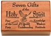 Seven Gifts of the Holy Spirit Mahogany Wood Keepsake Box N1513SG