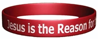 Jesus Is the Reason for the Season Silicone Bracelet