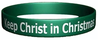 Keep Christ in Christmas Silicone Bracelet