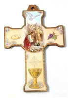 First Holy Communion Plaque Cross for Boy or Girl