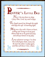 Prayer For A Little Boy Wall Plaque