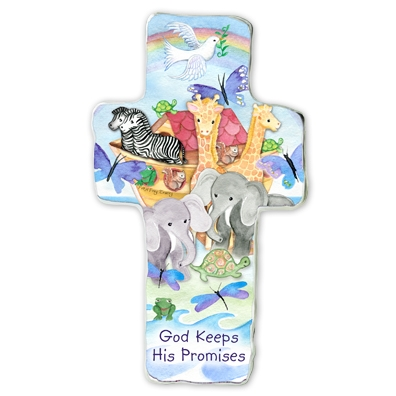 God Keep His Promises Standing/Hanging Wall Cross N2240