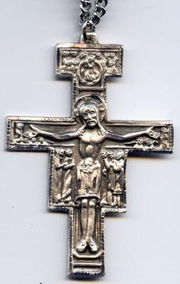 San Damiano Crucifix -  5.0 or 3.1cm Sterling Silver