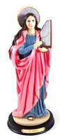 "12"" St. Cecilia Painted Statue 31230B"
