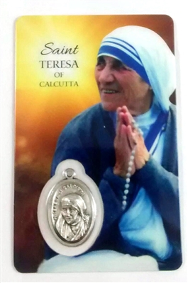 Saint Teresa of Calcutta Holy Card with Medal HC-1004