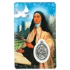 Saint Teresa of Avila Holy Card with Medal HC1006
