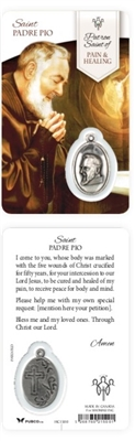 Healing Saints:  Saint Padre Pio Holy Card