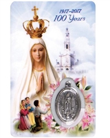 Our Lady of Fatima 100th Anniversary Holy Card HC575