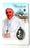 Pope Francis Holy Card with Medal C1106