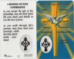 Confirmation Holy Card with Medal