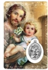 Saint Joseph Holy Card with Medal C103