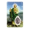 Saint Jude Holy Card with Medal C109