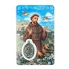 Saint Francis of Assisi Holy Card with Medal C112