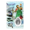 Saint Christopher Holy Card with Medal C114