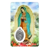 Our Lady of Guadalupe Holy Card with Medal C120