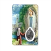 Our Lady of Lourdes Holy Card with Medal C121