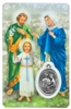 Holy Family Holy Card with Medal C124