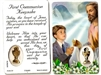First Communion Keepsake Boy Holy Card C130