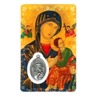 Mother of Perpetual Help Holy Card with Medal C134
