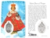 Infant Jesus of Prague Holy Card with Medal C135
