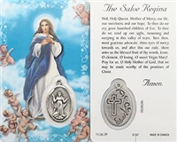 The Salve Regina Holy Card with Medal C137