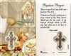 Baptism Prayer Holy Card with Medal C139