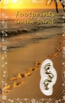 Footprints in The Sand Holy Card with Medal C143