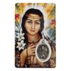 ST. KATERI TEKAKWITHA HOLY CARD WITH MEDAL C196