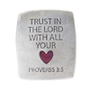 Trust In The Lord Pewter Magnet