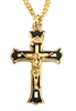24K Gold over Sterling Silver Crucifix with a Gold Plated Chain SX8129VH