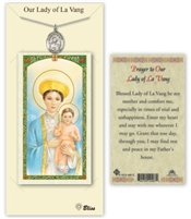 Our Lady of La Vang Pewter Medal with Holy Card PC8115PW