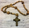 "22""  St. Benedict Cord Wood Rosary GRR657"