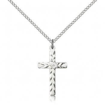 Sterling Silver Cross Pendant 5669SS/18S