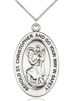 Sterling Silver St. Christopher Pendant 11022SS/24SS