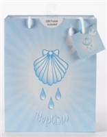 Baptism Boy Gift Bag with Tissue Paper 165-20-1003