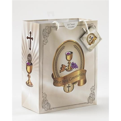 First Communion Large Gift Bag with Gift Tissue 165-20-2001