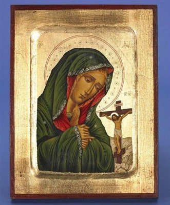 Mater Delorosa Virgin Mary of Sorrows Gold Leaf Icon 136-60-0203