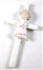 Porcelain Baby Girl Wall Cross 33013